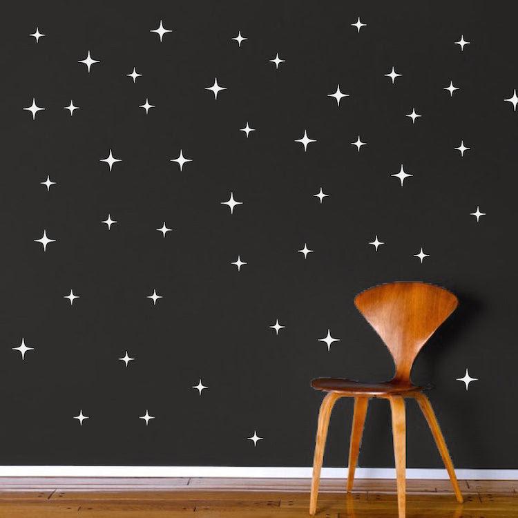 Bedroom Stars Wall Decal Kids Star Wallpaper Decor Bedroom Pattern Rem American Wall Designs