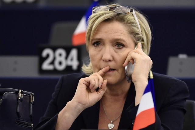 La cheffe de l'extrême droite française Marine Le... (AFP)