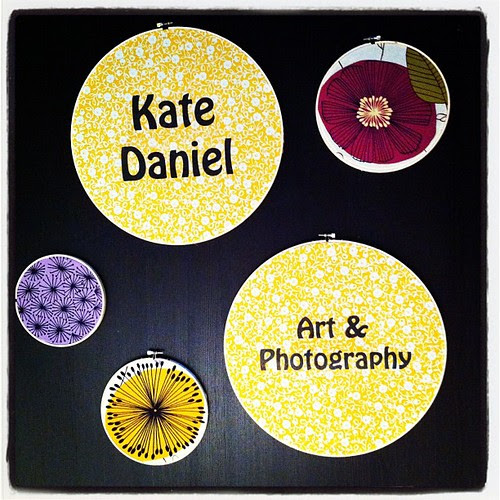 Prepping my booth sign for Make It by Kate Daniel