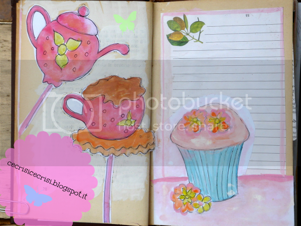 pagine da completare art journal cupcakes