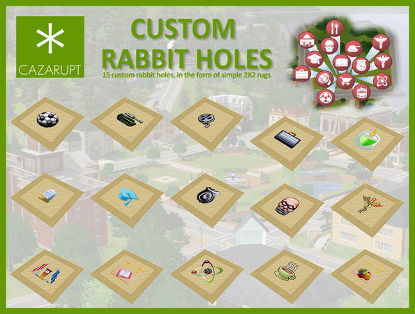 http://www.thesimsresource.com/downloads/details/category/sims3-sets/title/Custom%20Rabbit%20Holes/id/967779/
