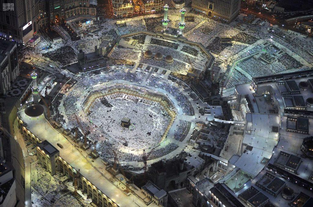 Aerial View Of Masjid Al Haram Makkah Ramadan 1438h 2017 Cbhuk