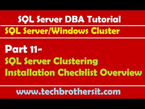 Welcome To TechBrothersIT: SQL Server Clustering