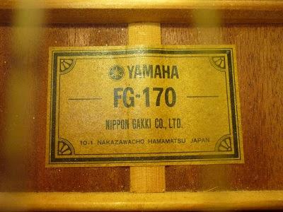 Fg Labels Yamaha Guitars