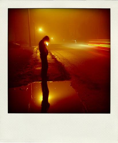 Nighttime Street  (Bangor, Maine) por MaineMike
