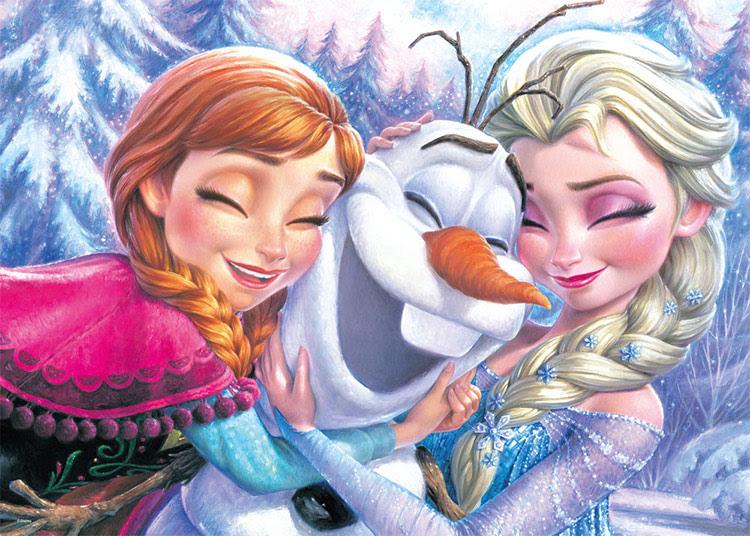 Ten D500 467 ディズニー アナ エルサ オラフ アナと雪の女王 500