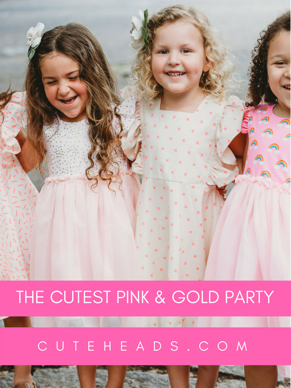 Pink and Gold Party -- see all the details at cuteheads.com