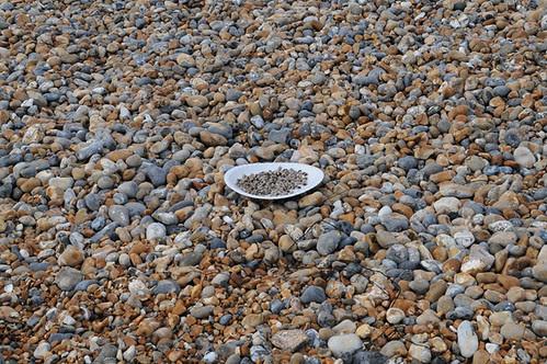 plate of blackeyed peas on beach_4211_1 web