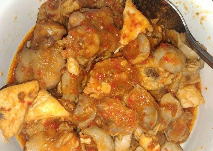 Resep Mudah Leher + ampela ayam pedas ++ Terenak
