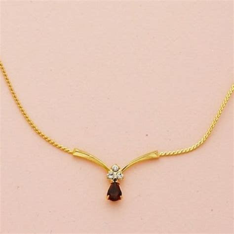 Simple Gold Diamond Necklace Vubqxt   EARRINGS   Jewelry