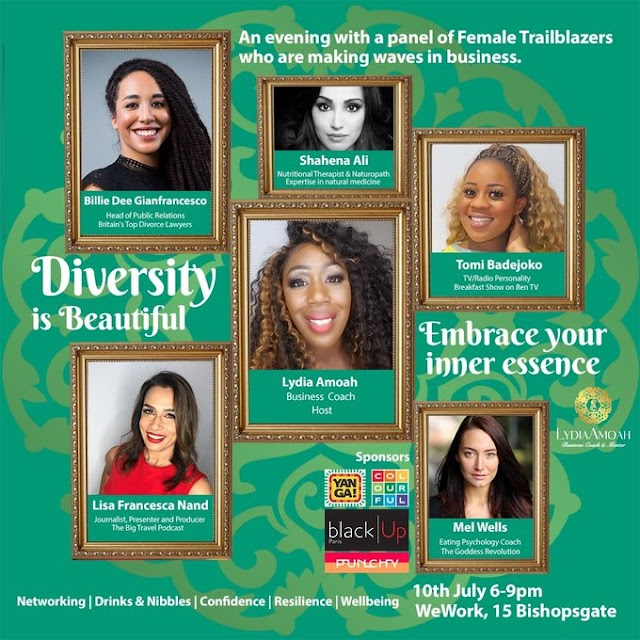 RT @tomibadejoko: So excited to announce that I will be speaking at the #diversityisbeautiful event on the 10th ofJuly @WeWork #bishopsgate .#tvhost #radiohost #speaker #panelist #wework .#DiversityandInclusion @tomibadejoko @WeWorkUK @LydiaAmoah_ https://t.co/HiQQf9MX12