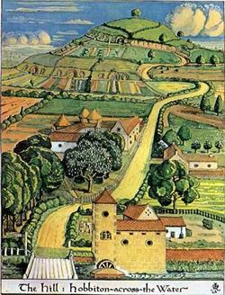 J.R.R. Tolkien - The Hill - Hobbiton-across-the-Water (Colored).jpg