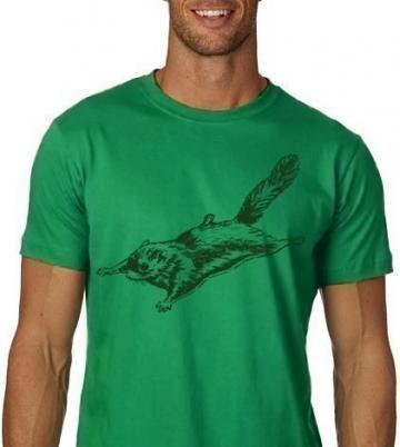 Flying Squirrel Tshirt Funny Animal Tee MENS Shirt