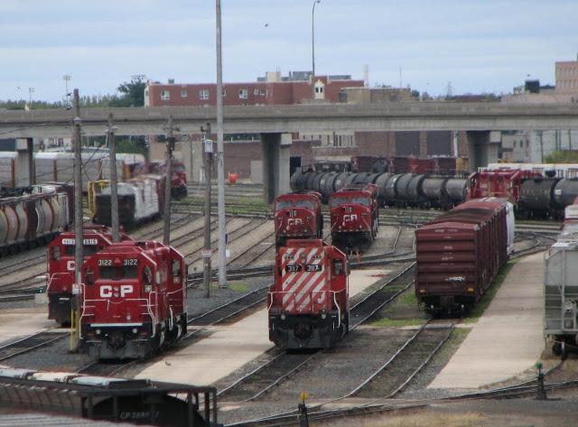 CP engines in Winnipeg