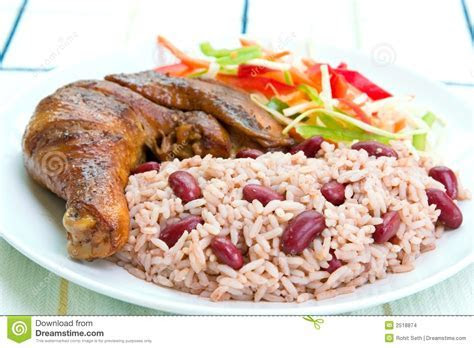Jerk Chicken With Rice Stock Images   Image: 2518874