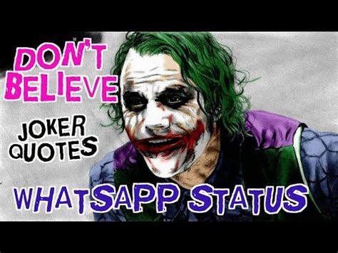 joker quotes dont  whatsapp status youtube