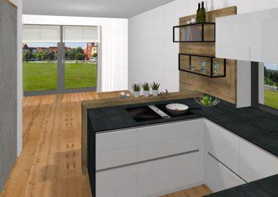 Moderne Echbeton-Küche in Linz   Tischlerei Kastner