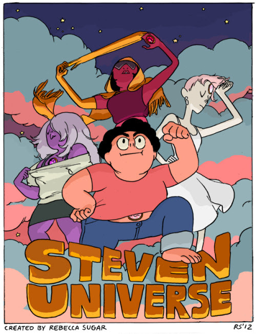 The Steven Universe pilot is online! Here is a very old promo poster I did before the pilot was even complete! I can not believe how much the show has grown and changed since this pilot; the show will look amazing, the people I am working with are amazing, wait up for the series you guys it's gonna be something else!!!