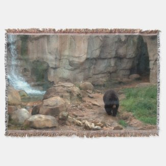 American Black Bear Throw Blanket