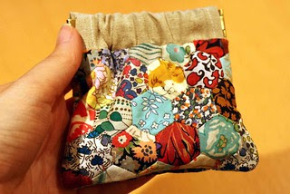 Liberty Hexie Flexi Frame Purse