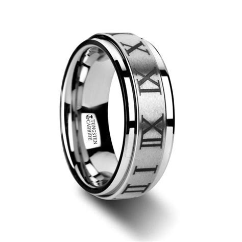 IMPERIUS Raised Center Brush Finish Spinner Ring with