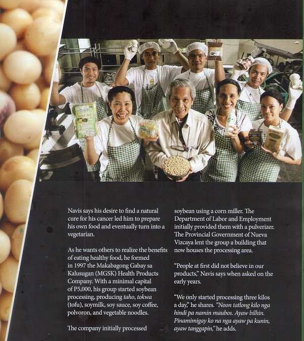 Healthy Rich soybean goods shown by Ric Navis and MGSK staff in a BAR-published book