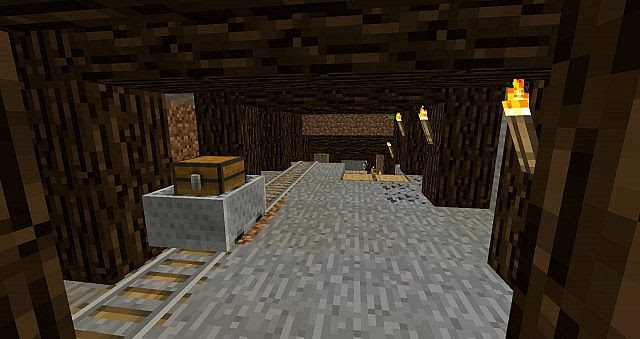 Realistic Mine & Cool Miner's House Epic Underground base ...
