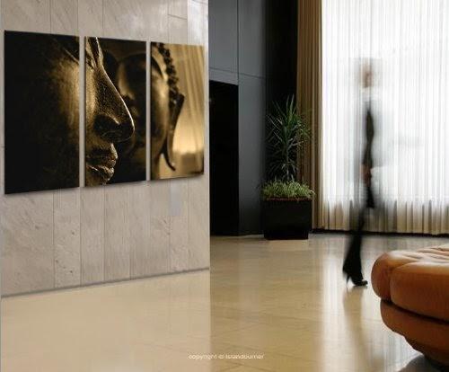 Buddha v4 3 quadri moderni su tela pronti da appendere for Mobili x salotto