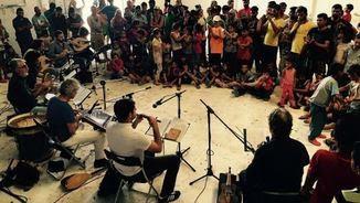 Jordi Savall i els seus músics toquen per als refugiats (David Zorrakino)