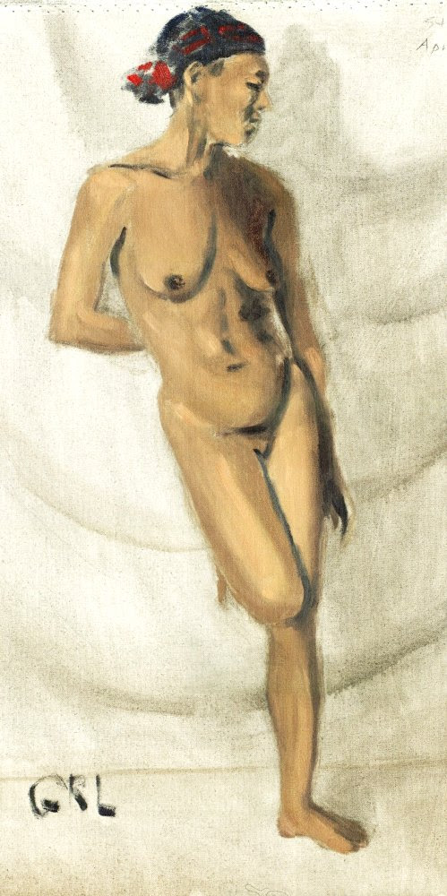 FINE ART FEMALE NUDE OIL PAINTING SKETCH STACY STANDING. $18 to $24, medium-size prints. Free downloads, wallpaper, GrlFineArt. Fine art work, nudes, figurative paintings. View here, art decor fineart figures painting paintings prints. An original oil painting, sketch; made while doing open art at Maryland Hall, Annapolis.
