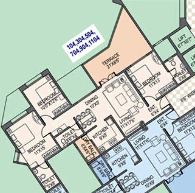 Paranjape Schemes' Gloria Grace Bavdhan Pune - 3 BHK Flat - 1017 Carpet + 223 Terrace - Rs. 75.78