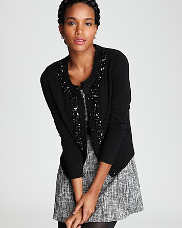 C by Bloomingdale's Cashmere Jewel Trim Cardigan