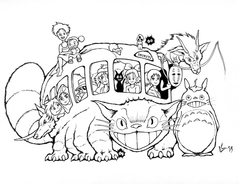 totoro coloring pages4