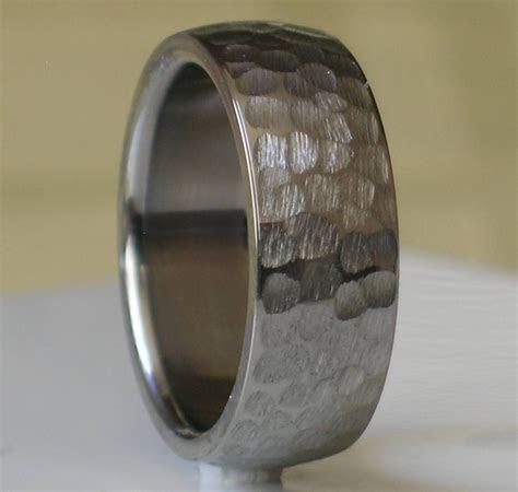 15 Inspirations of Hammered Tungsten Men's Wedding Bands