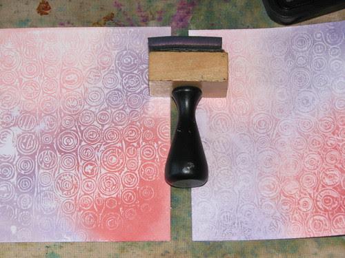 Wax Paper Technique #2 - Faux Embossing Resist 011