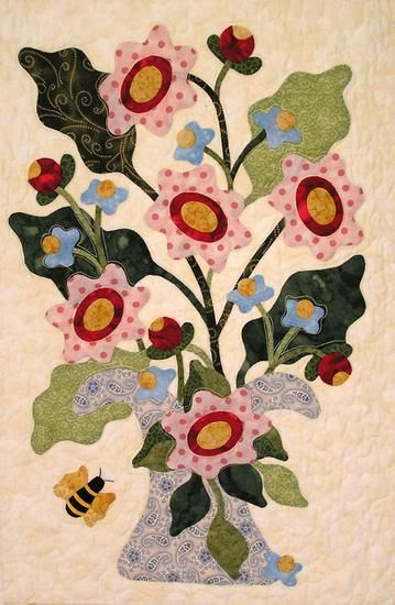 The flowers would be great in wool