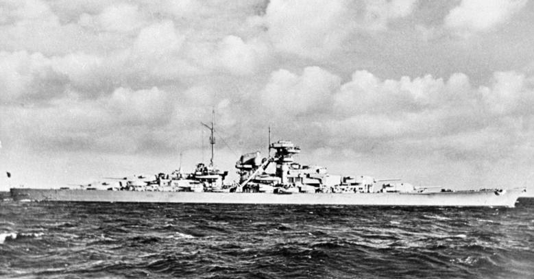 """File:Bundesarchiv DVM 10 Bild-23-63-41, Schlachtschiff """"Bismarck"""".jpg"""