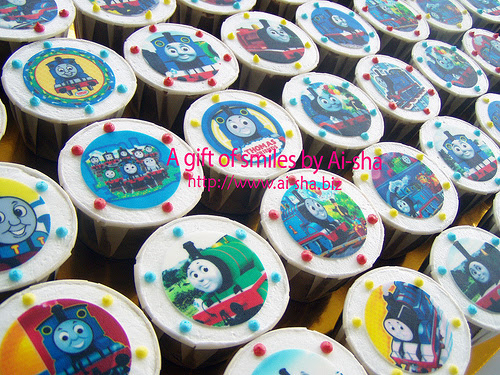 Birthday Cupcake Edible Image Thomas and Friends