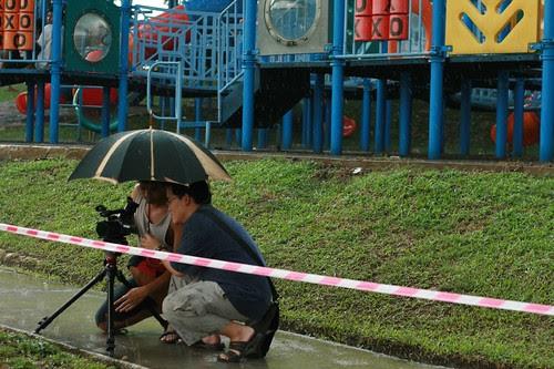 Directing under the rain