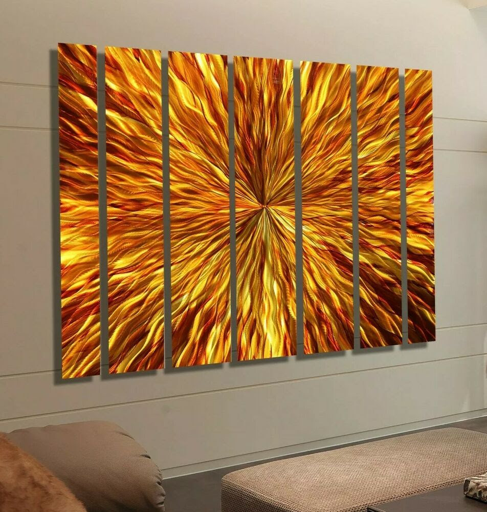 Huge Modern Abstract Metal Wall Decor Painting Commercial ...