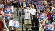 Supporters cheer as Republican presidential candidate
