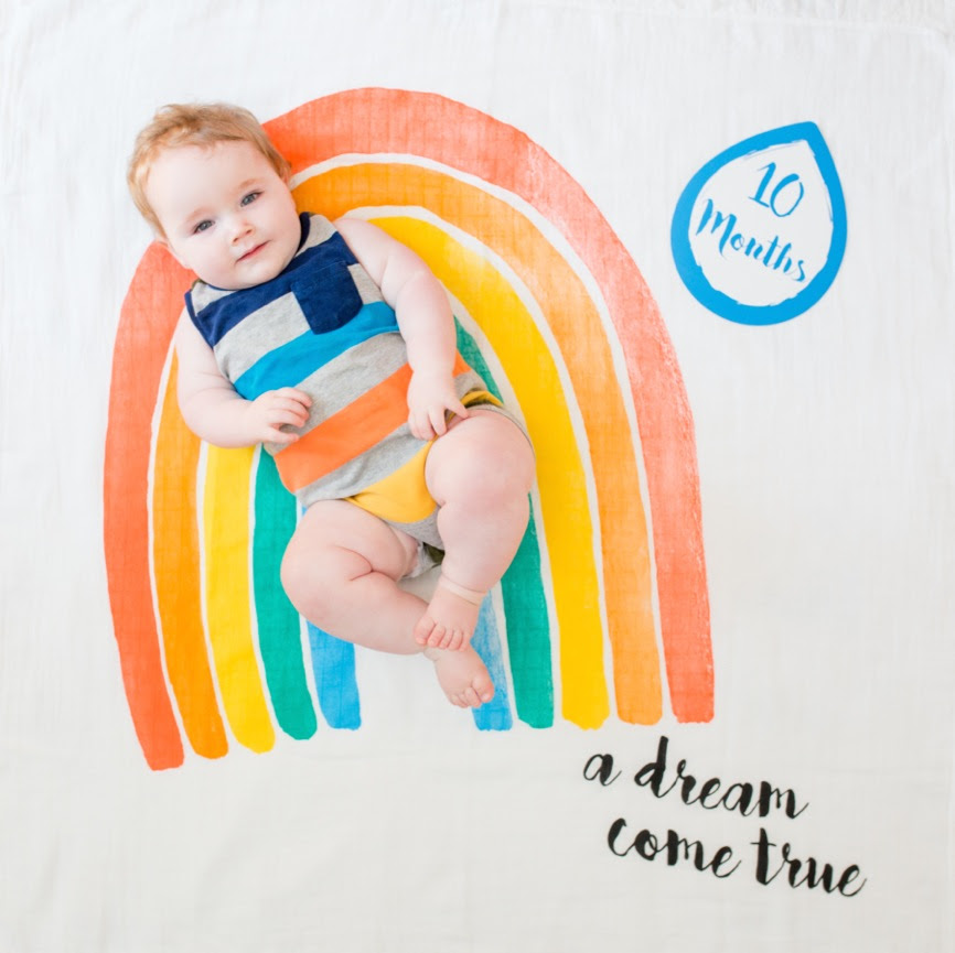 Dream Come True The Baby's First Year™ blanket & card set from Lulujo Baby #BabysFirstYear #Baby #LulujoBaby #BabyGifts