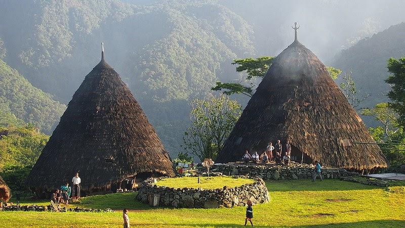 Afbeeldingsresultaat voor rumah suku manggarai