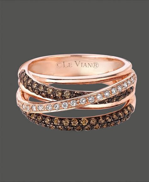 Le Vian Diamond Ring, 14k Rose Gold White and Chocolate