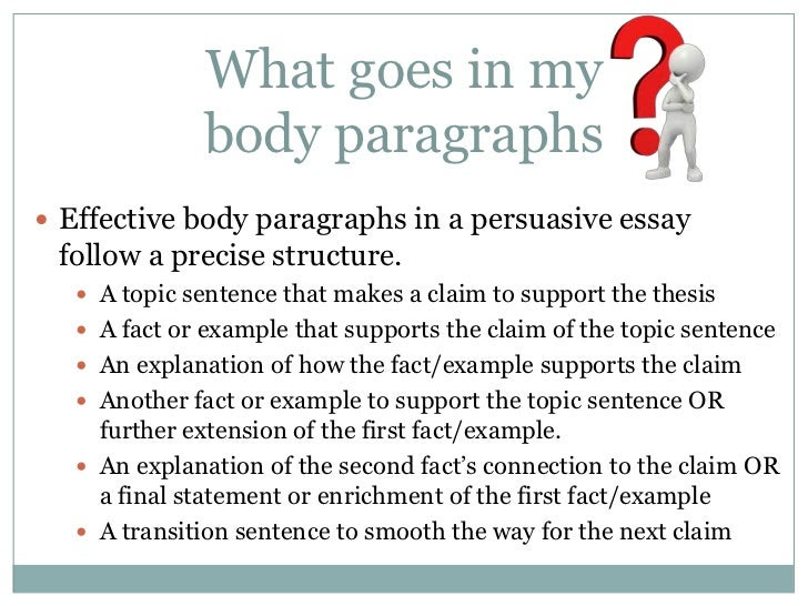 how to write body paragraphs for an essay