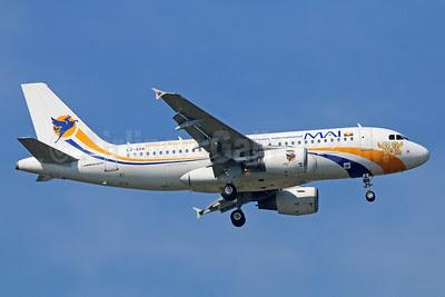 MAI-Myanmar Airways International (BH Air) Airbus A319-112 LZ-AOA (msn 3139) (Official Main Sponsor - 27th Southeast Asian Games) BKK (Michael B. Ing). Image: 921762.