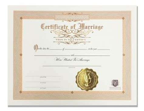 Certificate of Marriage   Universal Life Church