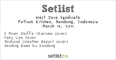 West Java Syndicate Setlist Potluck Kitchen, Bandung, Indonesia 2011