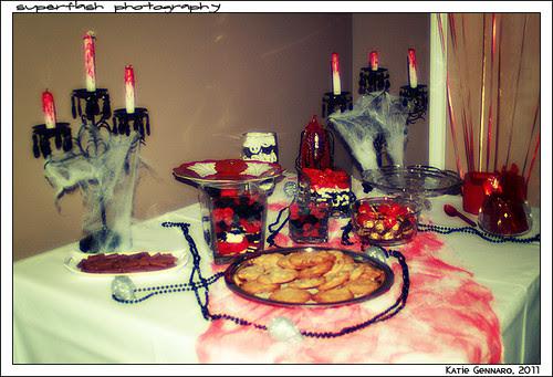 Sweet table closeup