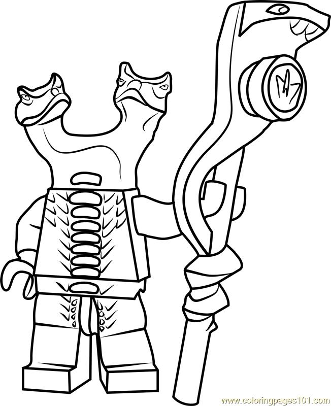 Ninjago Fangdam coloring page